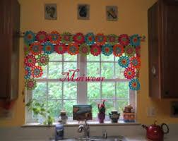 Crochet Curtain Designs Crochet Curtain Etsy