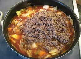 tomato beef u0026 cabbage soup cookin u0027 in the galley