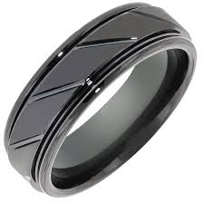 mens black wedding band mens comfort fit wedding band in black tungsten 7mm