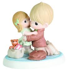 amazon com precious moments dad and daughter hugging figurine
