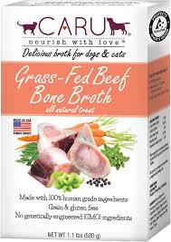 caru grass fed beef bone broth for dogs u0026 cats 1 1 lb box chewy com