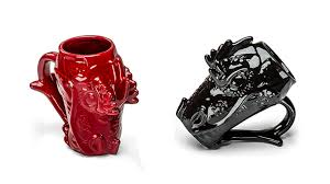 these stately dragon head mugs will deign to carry your coffee