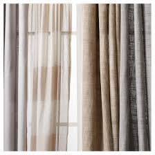 Linen Curtains With Grommets Linen Grommet Sheer Curtain Panel Threshold Target