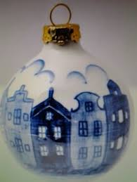 dripball 6 5cm delft blue ornaments