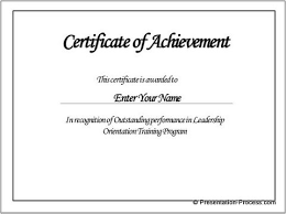 template for a certificate of achievement create powerpoint