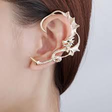 ear wrap ear wrap earring gold plated ear cuff in stud