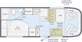 Winnebago Rialta Rv Floor Plans Viva 23l Msrp About 90k Length 24 Feet Winnebago Rvs Rvs We
