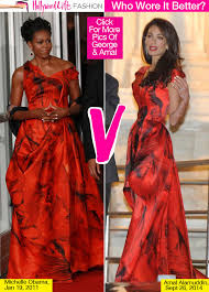obama dresses amal alamuddin obama same dress showdown in