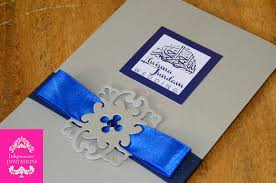 silver and royal blue wedding wedding invitation royal blue motif yaseen for