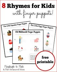 8 rhymes for kids with finger puppets the measured mom