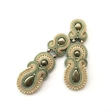 post earrings soutache earrings clip on earrings post earrings sabo design