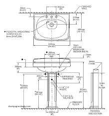 standard sink drain size bathroom sink sizes cafedream info
