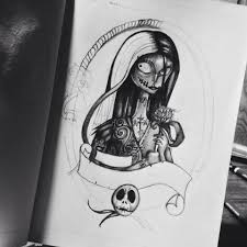 unfinished nightmare before christmas drawing imgur