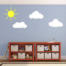 sun and clouds wall decals stickers for child s nursery bedroom sun and clouds wall decals stickers for child s nursery bedroom or playroom amazon co uk kitchen home