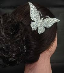 butterfly for hair rhinestone large butterfly hair tiara comb rb416
