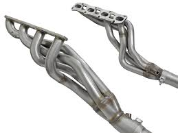 nissan titan long tube headers afe power 48 46107 yc twisted steel header u0026 connection pipes