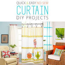 Easy No Sew Curtains Quick And Easy No Sew Curtain Diy Projects The Cottage Market