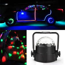 12v led disco lights 3w rgb music rhythm activated dj disco stage effects auto atmosphere
