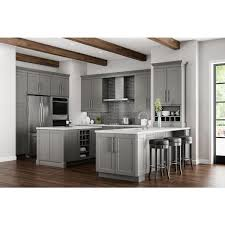 home depot kitchen cabinets and sink shaker assembled 36x34 5x24 in sink base kitchen cabinet in dove gray