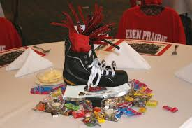 graduation center pieces hockey skate graduation centerpiece gradpartyblog