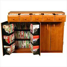 Oak Cd Storage Cabinet Dark Wood Cd Storage Furniture Dame Multimedia Library Style Solid