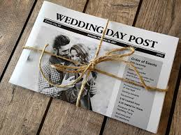 Wedding Program Paper Stock Newspaper Wedding Programs Printed Fun Program Idea For