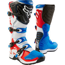 motocross boots fox fox mx boots comp 5 blue red special edition 2018 maciag offroad