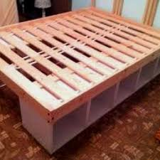 Cheap Bed Frame With Storage Amazing Diy Storage Bed Fram Part 7 Diy Bed Frame With