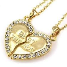 ebay necklace heart images Best friend necklace ebay JPG