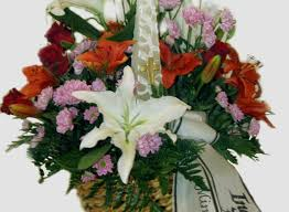 basket arrangements funeral flower arrangements sympathy flower arrangement in