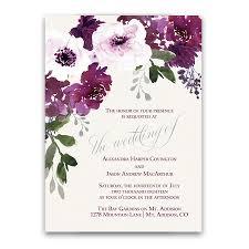 purple wine watercolor flowers wedding programs