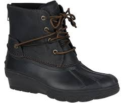 womens duck boots sale s saltwater wedge tide duck boot boots sperry
