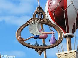 dumbo attraction stork ornament prop