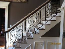 Banister Rails Metal The Ideas Of Using Stylish Wrought Iron Stair Railing
