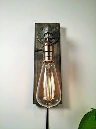 Edison Bulb Wall Sconce In Wall Sconce L Rustic Decor Sconce L Industrial