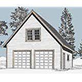 amazon com garage plans 1 car craftsman style garage plan with