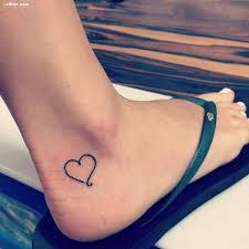 35 cutest heart ankle tattoo designs u2013 popular little heart
