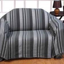 jetee de canapé jeté de lit ou de canapé morocco rayures gris 225 x 250 cm