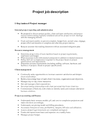 Sample Resume For Construction Manager Construction Project Manager Job Description Sample Project