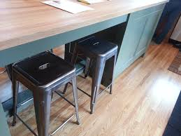 minneapolis saint paul home tour butcher block painted green island and industrial style stools