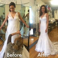 wedding dress alterations before after wedding dress alteration initially it was a size