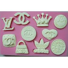 Louis Vuitton Cake Decorations Icons Silicone Mold Chanel Louis Vuitton Adidas Starbucks