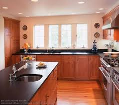 Red Kitchen With White Cabinets Pictures Of Kitchens With Cherry Cabinets White Granite Kitchen
