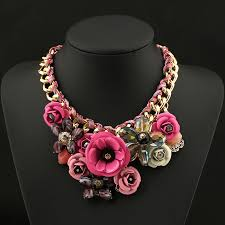 chunky statement chain necklace images New charming pendant chain crystal choker chunky statement bib jpg