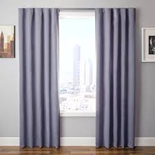 Easy Blackout Curtains The Simple Drape Set Of 2 Easy To Hang Total Black