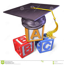 preschool graduation caps preschool graduation cap with play blocks royalty free stock