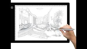 tablet drawing pad tracing lightbox a4 size super thin usb