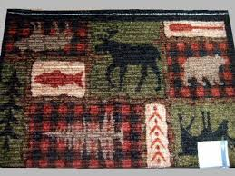 Moose Area Rugs Large Moose Area Rug Cabin Lodge Decor