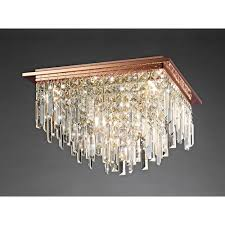 gold ceiling light fixtures diyas maddison square 6 light rose gold ceiling fixture with crystal