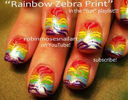 robin moses nail art cutest rainbow zebra nail art cute rainbow